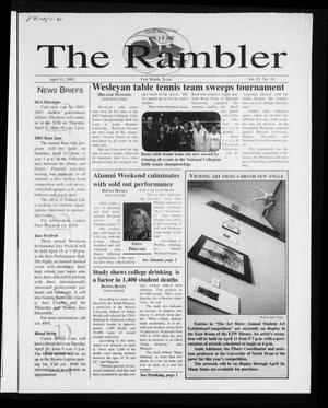 Primary view of object titled 'The Rambler (Fort Worth, Tex.), Vol. 87, No. 10, Ed. 1 Thursday, April 11, 2002'.
