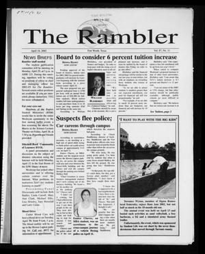 Primary view of object titled 'The Rambler (Fort Worth, Tex.), Vol. 87, No. 11, Ed. 1 Thursday, April 18, 2002'.