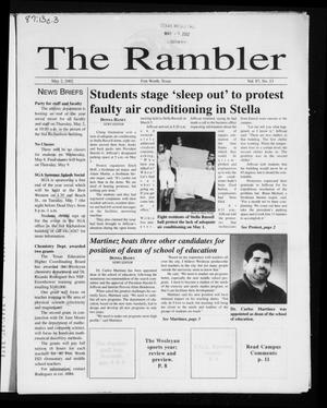 Primary view of object titled 'The Rambler (Fort Worth, Tex.), Vol. 87, No. 13, Ed. 1 Thursday, May 2, 2002'.