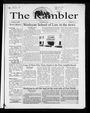 Primary view of object titled 'The Rambler (Fort Worth, Tex.), Vol. 88, No. 2, Ed. 1 Wednesday, October 23, 2002'.