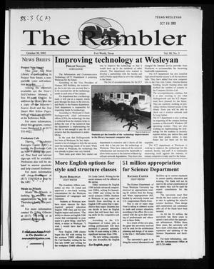 Primary view of object titled 'The Rambler (Fort Worth, Tex.), Vol. 88, No. 3, Ed. 1 Wednesday, October 30, 2002'.