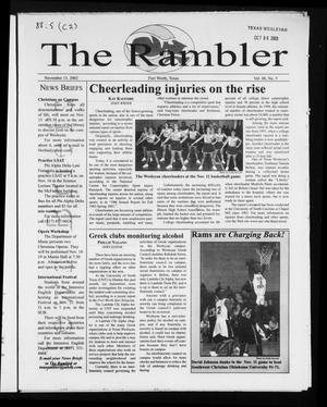 Primary view of object titled 'The Rambler (Fort Worth, Tex.), Vol. 88, No. 5, Ed. 1 Wednesday, November 13, 2002'.
