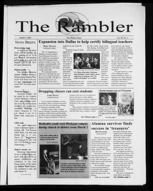 Primary view of object titled 'The Rambler (Fort Worth, Tex.), Vol. 89, No. 5, Ed. 1 Wednesday, March 5, 2003'.