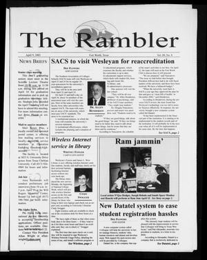 Primary view of object titled 'The Rambler (Fort Worth, Tex.), Vol. 89, No. 8, Ed. 1 Wednesday, April 9, 2003'.