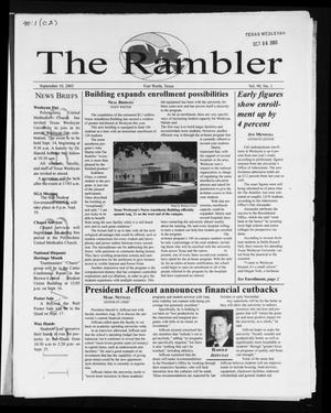 The Rambler (Fort Worth, Tex.), Vol. 90, No. 1, Ed. 1 Wednesday, September 10, 2003
