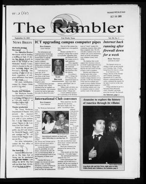 Primary view of object titled 'The Rambler (Fort Worth, Tex.), Vol. 90, No. 3, Ed. 1 Wednesday, September 24, 2003'.
