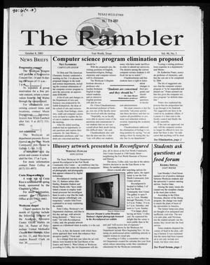 Primary view of object titled 'The Rambler (Fort Worth, Tex.), Vol. 90, No. 5, Ed. 1 Wednesday, October 8, 2003'.