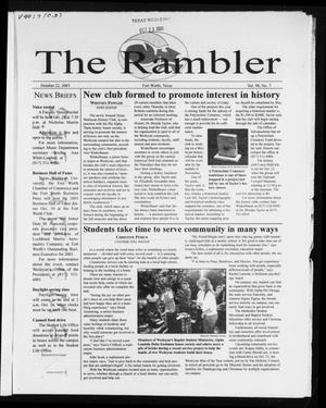 Primary view of object titled 'The Rambler (Fort Worth, Tex.), Vol. 90, No. 7, Ed. 1 Wednesday, October 22, 2003'.