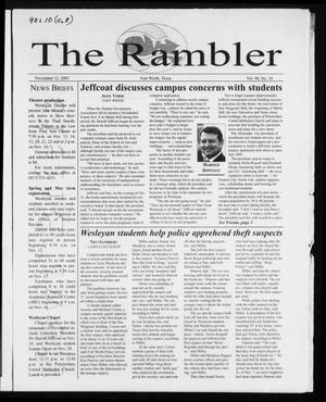The Rambler (Fort Worth, Tex.), Vol. 90, No. 10, Ed. 1 Wednesday, November 12, 2003