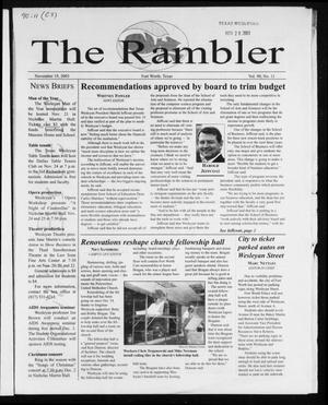 Primary view of object titled 'The Rambler (Fort Worth, Tex.), Vol. 90, No. 11, Ed. 1 Wednesday, November 19, 2003'.