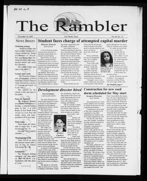 Primary view of object titled 'The Rambler (Fort Worth, Tex.), Vol. 90, No. 12, Ed. 1 Wednesday, November 26, 2003'.