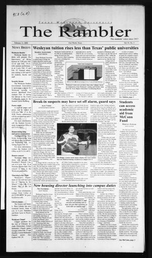 The Rambler (Fort Worth, Tex.), Vol. 91, No. 3, Ed. 1 Wednesday, February 11, 2004