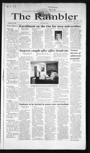The Rambler (Fort Worth, Tex.), Vol. 91, No. 5, Ed. 1 Wednesday, February 25, 2004
