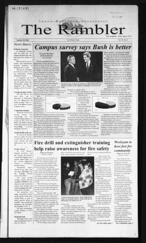 The Rambler (Fort Worth, Tex.), Vol. 92, No. 8, Ed. 1 Wednesday, October 20, 2004