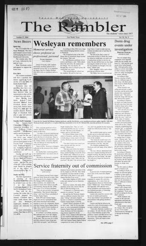 The Rambler (Fort Worth, Tex.), Vol. 92, No. 9, Ed. 1 Wednesday, October 27, 2004