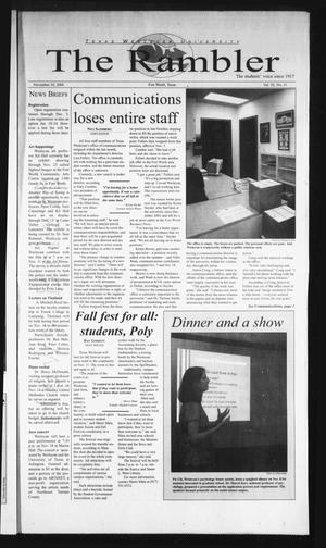 The Rambler (Fort Worth, Tex.), Vol. 92, No. 11, Ed. 1 Wednesday, November 10, 2004