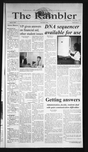 The Rambler (Fort Worth, Tex.), Vol. 93, No. 7, Ed. 1 Wednesday, March 9, 2005