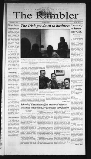 The Rambler (Fort Worth, Tex.), Vol. 94, No. 11, Ed. 1 Wednesday, November 16, 2005