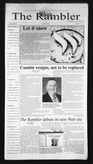 Primary view of object titled 'The Rambler (Fort Worth, Tex.), Vol. 98, No. 1, Ed. 1 Wednesday, January 24, 2007'.