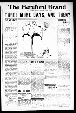 The Hereford Brand, Vol. 9, No. 51, Ed. 1 Friday, January 28, 1910