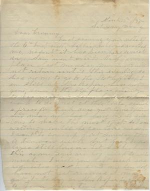 Primary view of object titled 'Letter to Cromwell Anson Jones, 13 March 1875'.
