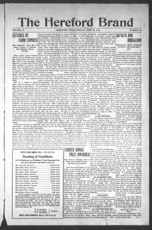 The Hereford Brand, Vol. 12, No. 21, Ed. 1 Friday, June 28, 1912