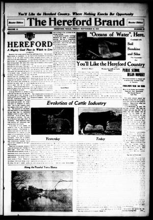 Primary view of object titled 'The Hereford Brand, Vol. 15, No. 32, Ed. 1 Friday, September 10, 1915'.