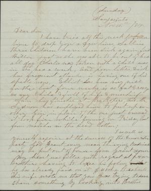 Primary view of object titled 'Letter to Cromwell Anson Jones, 15 November 1874'.