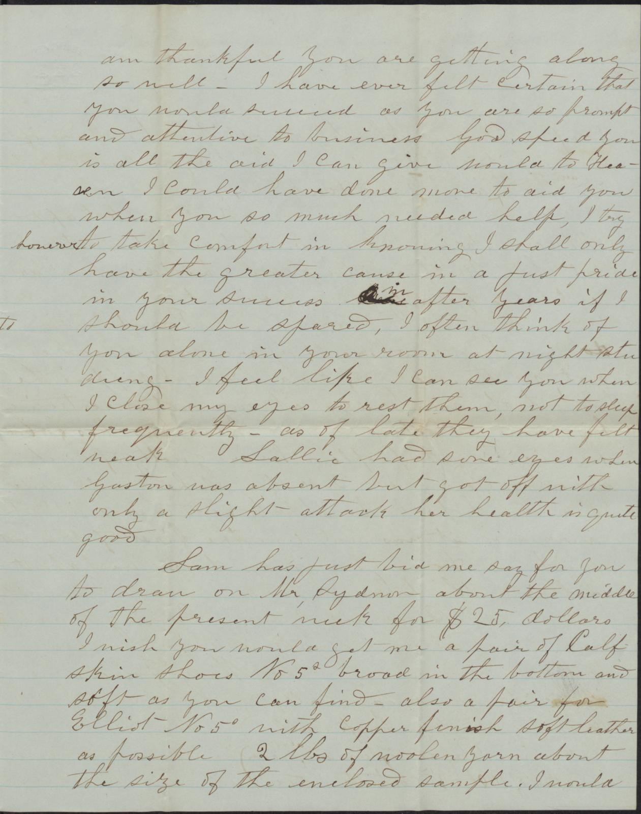 Letter to Cromwell Anson Jones, 15 November 1874                                                                                                      [Sequence #]: 3 of 4
