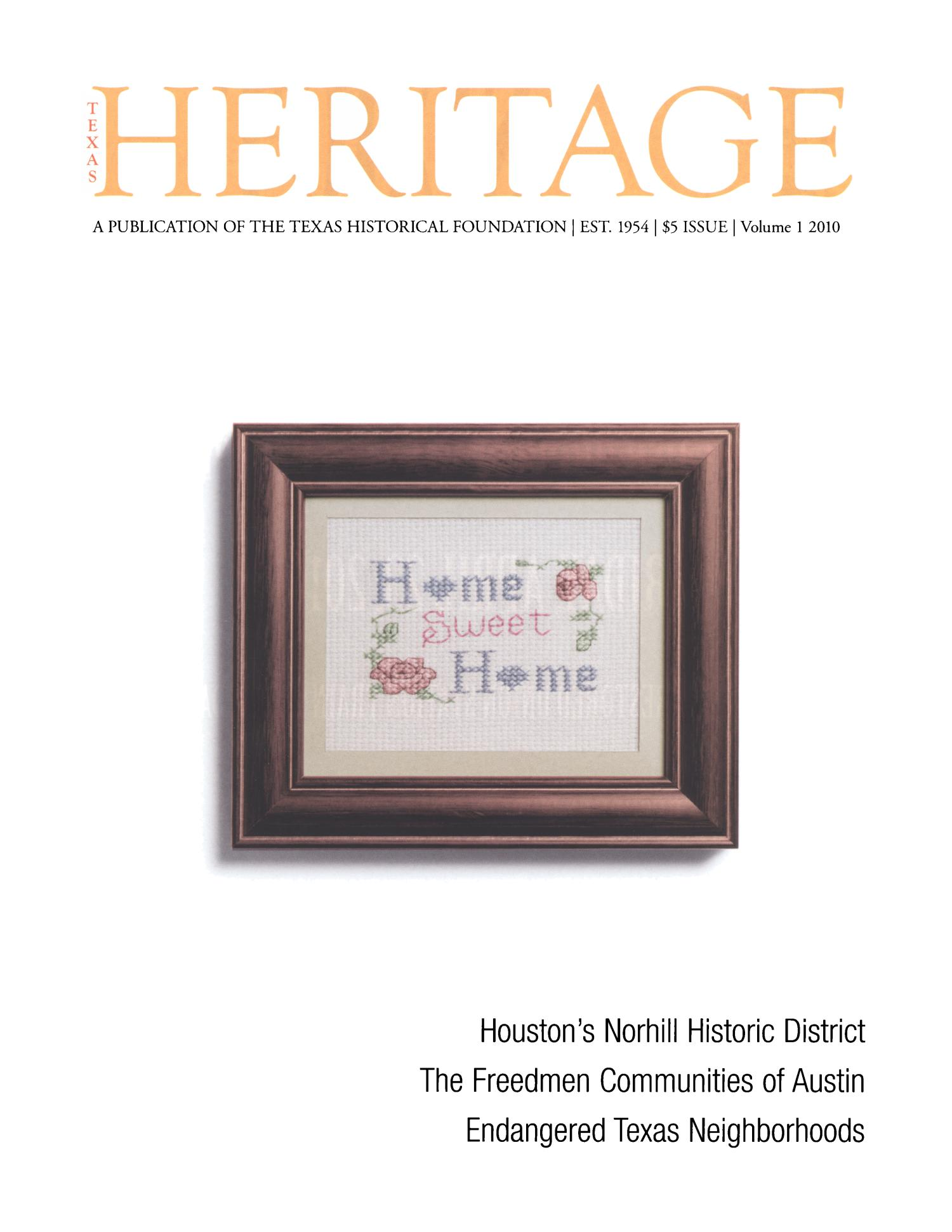 Heritage, 2010, Volume 1                                                                                                      Front Cover