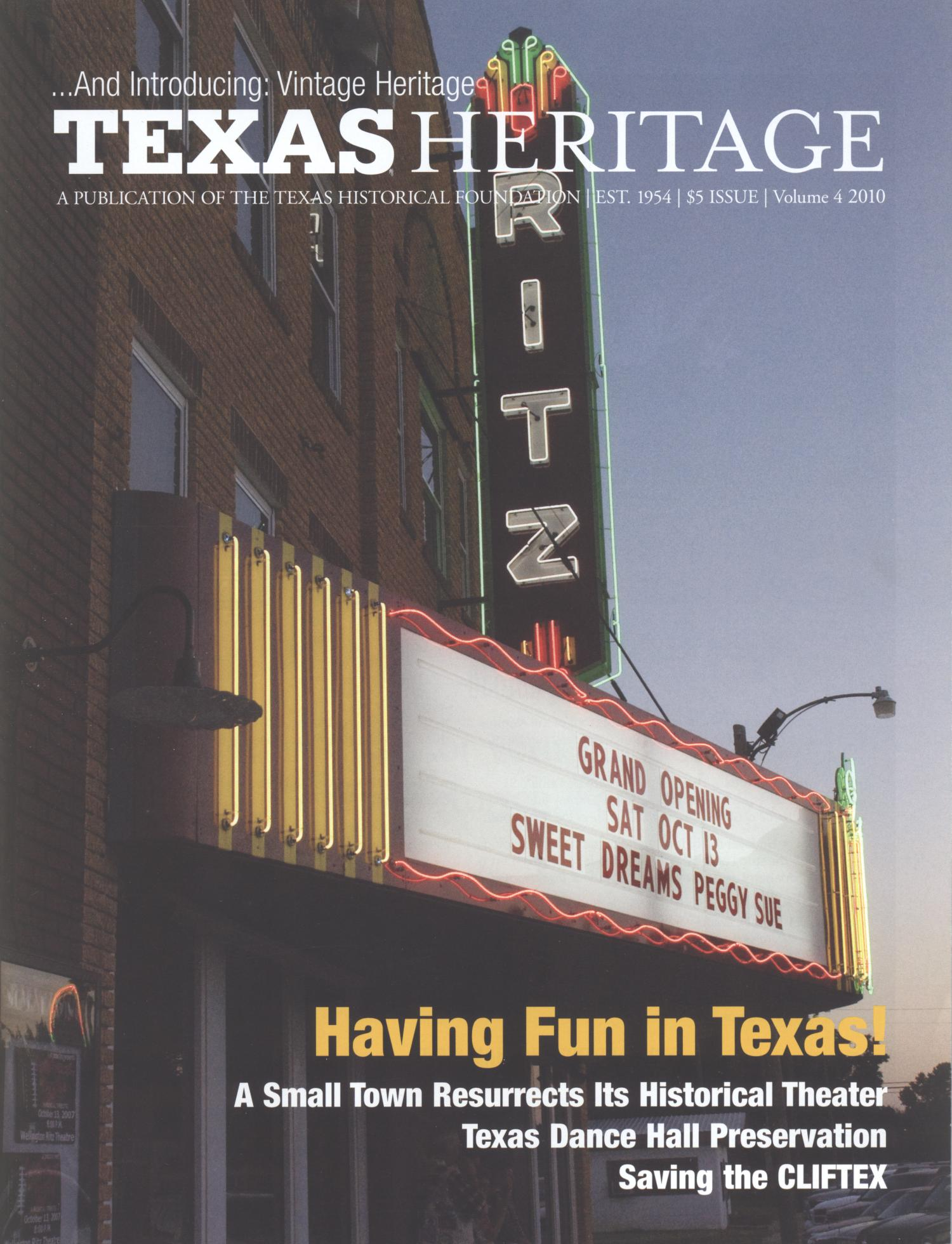 Heritage, 2010, Volume 4                                                                                                      Front Cover