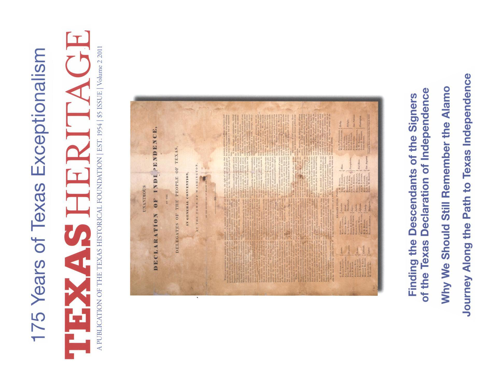 Heritage, 2011, Volume 2                                                                                                      Front Cover