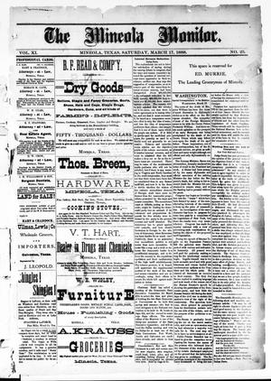 The Mineola Monitor (Mineola, Tex.), Vol. 11, No. 25, Ed. 1 Saturday, March 17, 1888