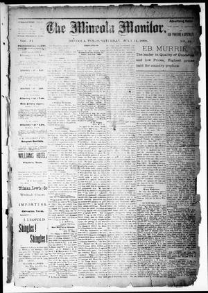 The Mineola Monitor (Mineola, Tex.), Vol. 11, No. 42, Ed. 1 Saturday, July 14, 1888