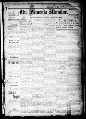 The Mineola Monitor (Mineola, Tex.), Vol. 11, No. 45, Ed. 1 Saturday, August 4, 1888