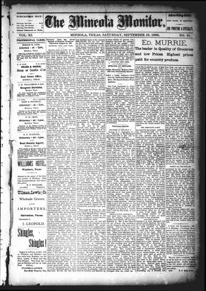 The Mineola Monitor (Mineola, Tex.), Vol. 11, No. 51, Ed. 1 Saturday, September 15, 1888