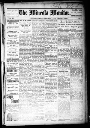 The Mineola Monitor (Mineola, Tex.), Vol. 12, No. 6, Ed. 1 Saturday, November 3, 1888