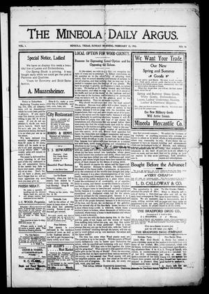 The Mineola Daily Argus (Mineola, Tex.), Vol. 1, No. 16, Ed. 1 Sunday, February 15, 1903