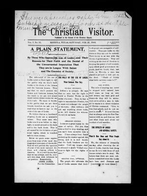 Primary view of object titled 'The Christian Visitor (Mineola, Tex.), Vol. 1, No. 15, Ed. 1 Saturday, February 21, 1903'.