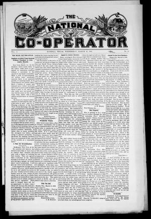 Primary view of object titled 'The National Co-Operator (Mineola, Tex.), Vol. 1, No. 12, Ed. 1 Wednesday, March 15, 1905'.