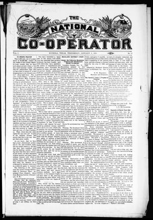 Primary view of object titled 'The National Co-Operator (Mineola, Tex.), Vol. 1, No. 51, Ed. 1 Wednesday, January 3, 1906'.