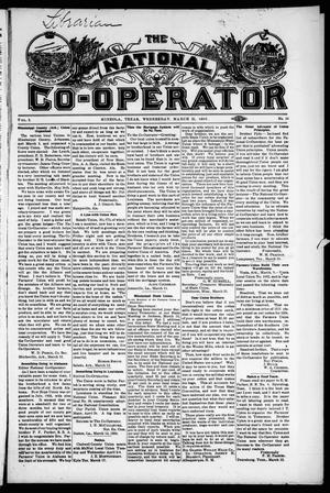 Primary view of object titled 'The National Co-Operator (Mineola, Tex.), Vol. 2, No. 10, Ed. 1 Wednesday, March 21, 1906'.