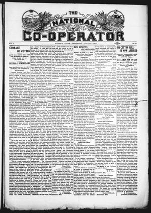 Primary view of object titled 'The National Co-Operator (Mineola, Tex.), Vol. 2, No. 31, Ed. 1 Wednesday, August 8, 1906'.