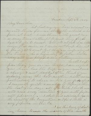 Primary view of object titled 'Letter to Cromwell Anson Jones, 3 September 1874'.