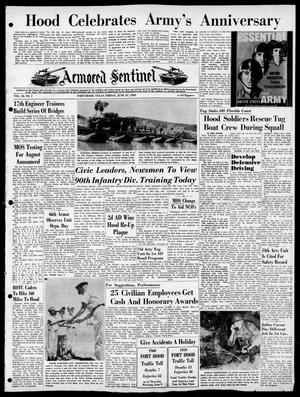 Armored Sentinel (Temple, Tex.), Vol. 18, No. 1, Ed. 1 Friday, June 10, 1960