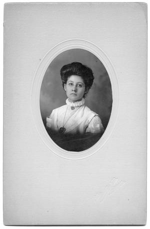 Portrait of unidentified woman with locket