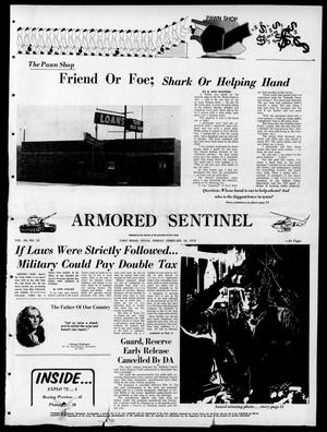 Armored Sentinel (Temple, Tex.), Vol. 30, No. 52, Ed. 1 Friday, February 18, 1972