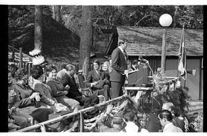 Primary view of object titled '[Buddy Temple Gives Speech at Wilson's Governor Day]'.