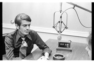 Primary view of object titled '[Charles Wilson Speaks during Radio Interview]'.