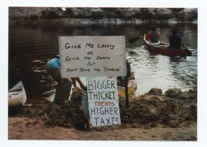 Primary view of object titled '[Anti- Big Thicket Expansion Protest Sign]'.